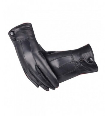 Luxurious Leather Cashmere Mittens Hanican