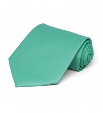 TieMart Aquamarine Solid Color Necktie