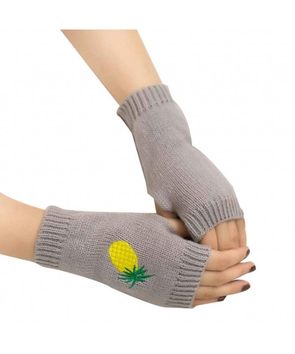 Colorido Cartoon Pineapple Embroidery Half finger