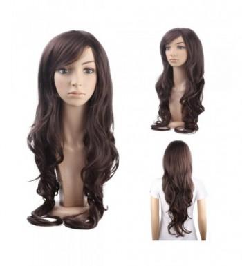 MelodySusie Dark Brown Long Curly