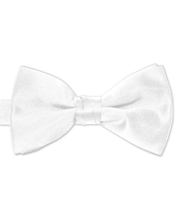 White Satin Mens Bow Tie