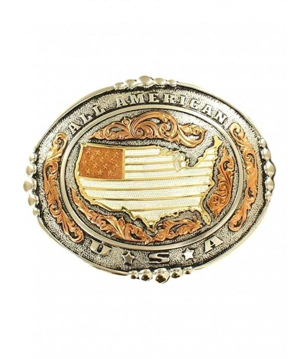 Western American Buckle Silver Copper
