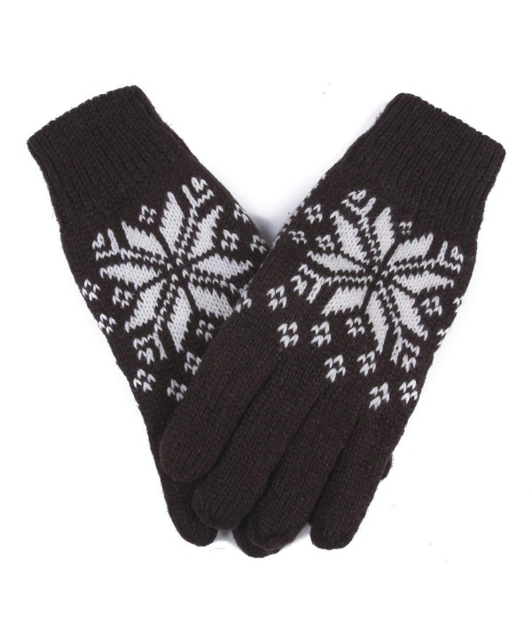 Damara Fleece Knitted Gloves Coffee