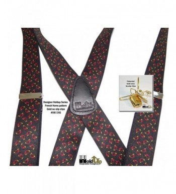 Hold Ups French Pattern Suspenders No slip