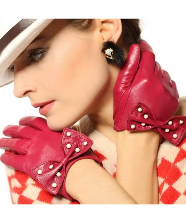 WARMEN Genuine Leather Backless Gloves