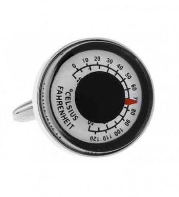 MRCUFF Presentation Thermometer Fahrenheit Cufflinks