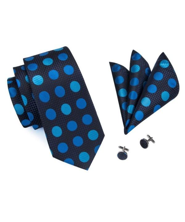 Barry Wang Blue Polka Necktie Hanky