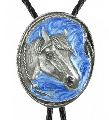 Bolo Tie Horse Sculpted Pewter