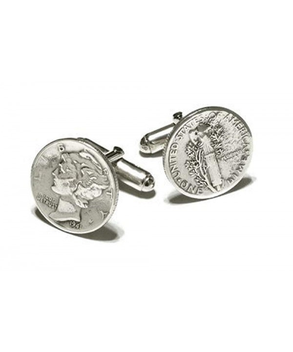 Mercury Cufflinks Sterling Silver Fittings