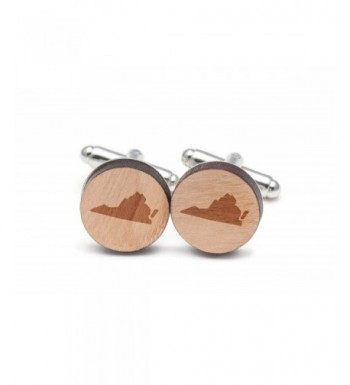 Wooden Accessories Company Virginia Cufflinks