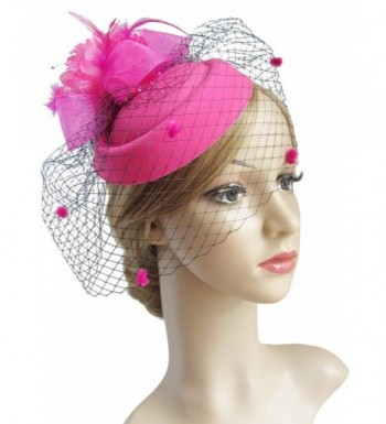K CLASSIC Fascinator Pillbox Feather Wedding