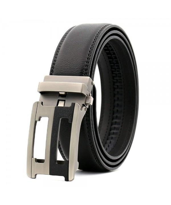 Comfort Genuine Leather Buckle Black 8