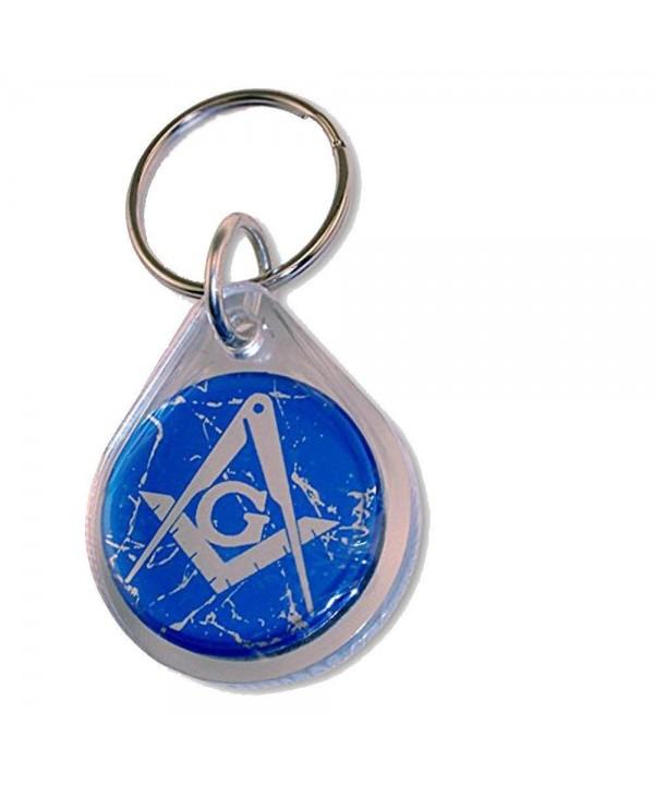 Masonic Domed Keychain Crackle Background