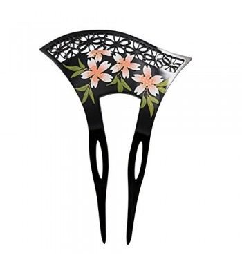 Acrylic 2 Prong Geisha Floral Flowers