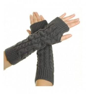 EUBUY Braided Knitted Crochet Fingerless