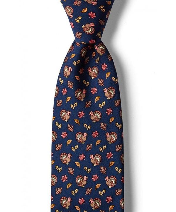 Navy Blue Silk Fall Necktie