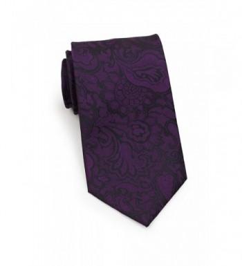 Bows N Ties Necktie Vibrant Microfiber Eggplant