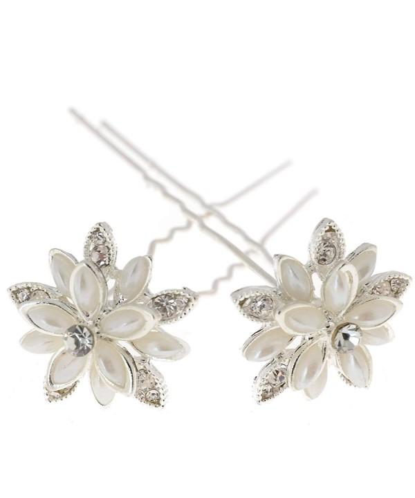 Womens Flower Bridal Wedding Crystal