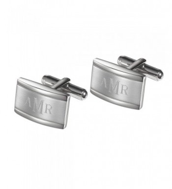 Personalized Cufflinks Engraved Roman Monogram