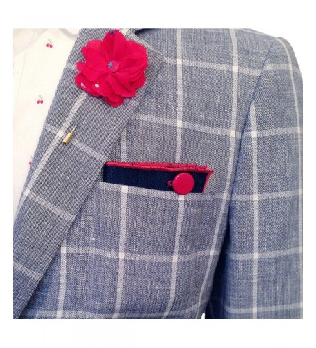 Button Pocket Square Detailed Male