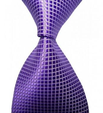 Paisley Jacquard Necktie Checkered Purple