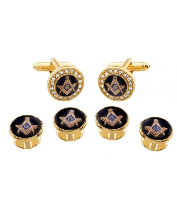 Freemason Crystal Masonic Formal Cufflink