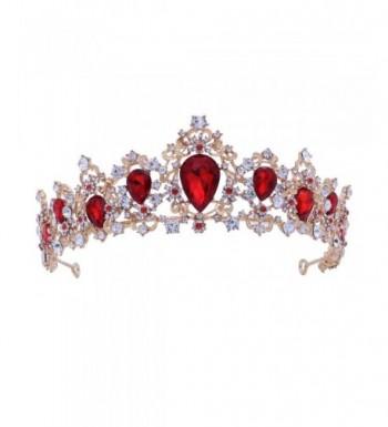 Frcolor Rhinestone Crowns Wedding Headband