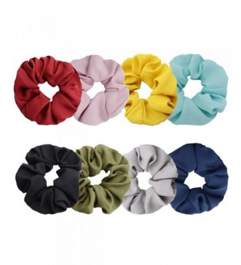 Chloven Scrunchies Womens Chiffon Accessories Solid