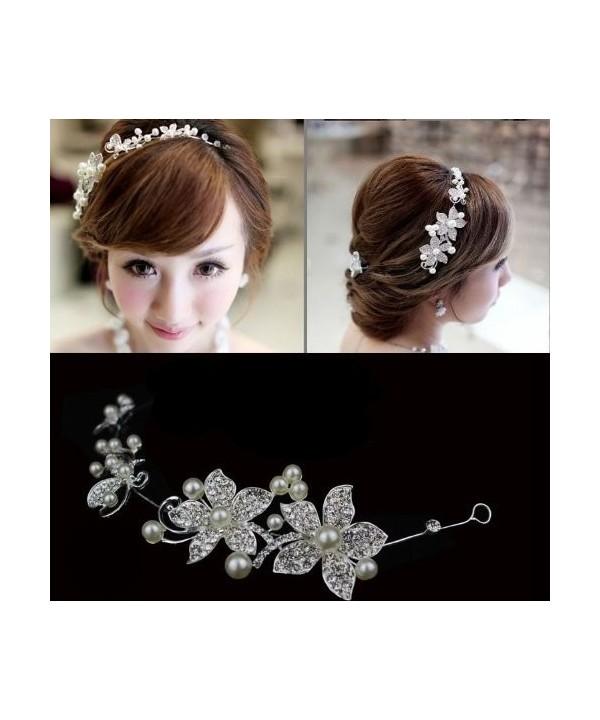 Flower Rhinestone Crystal Wedding Headband