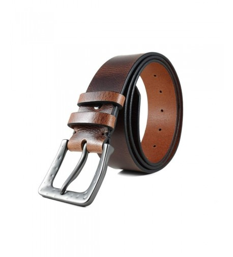 Hoffebelts Mens Leather Bruce Large