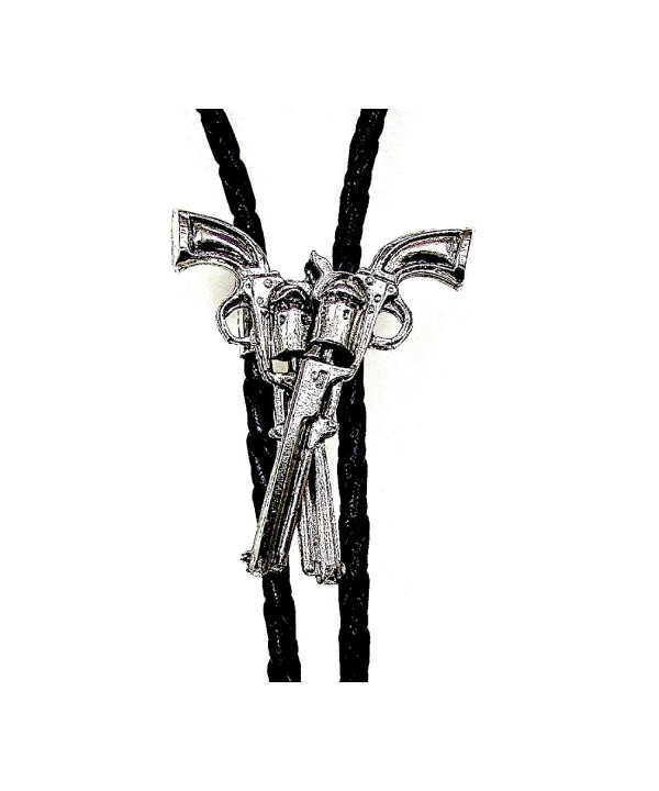 Crossed Guns Silver Plated Bolo