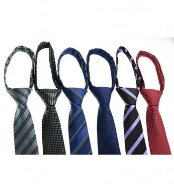 Zipper Skinny Pre tied Business Necktie