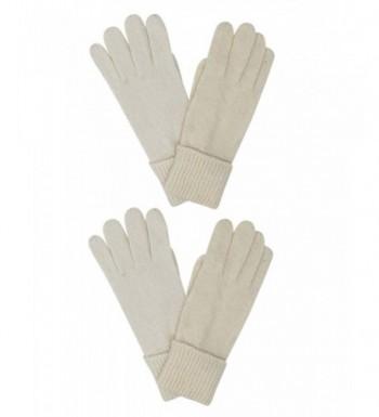 Winter White Ivory Angora Gloves