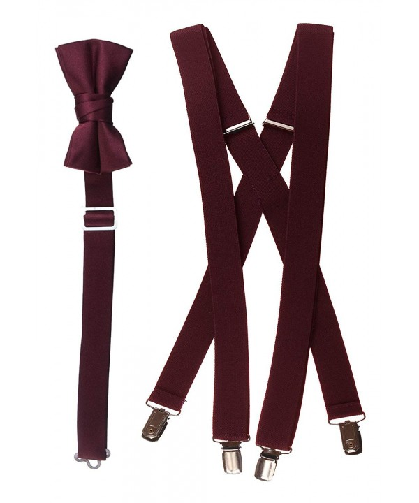 Suspender Combo Sizes Young Burgundy