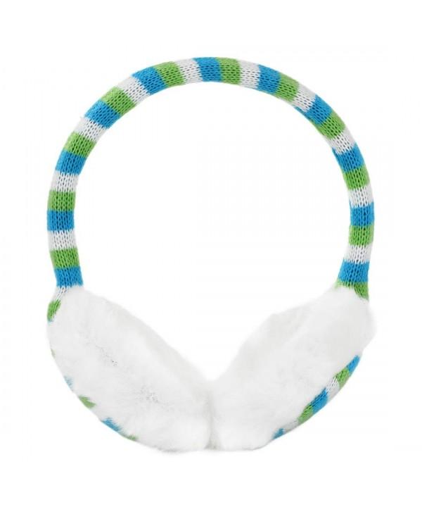 Allegra Winter Earmuffs Knitted Green blue