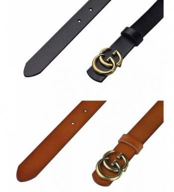 71818fb84a5 Available. Fashion G Style Cowhide Leather BlackBrown 1 3  Cheap Designer  Women s Belts Wholesale ...