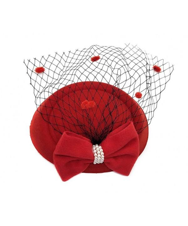 Ahugehome Fascinator Headband Pillbox Wedding