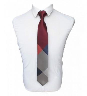JEMYGINS Maroon Classic Formal Necktie