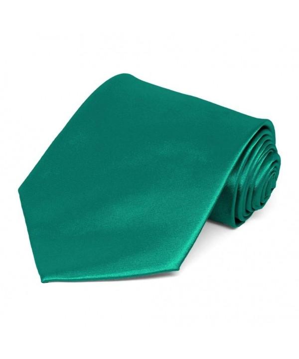 TieMart Jade Solid Color Necktie