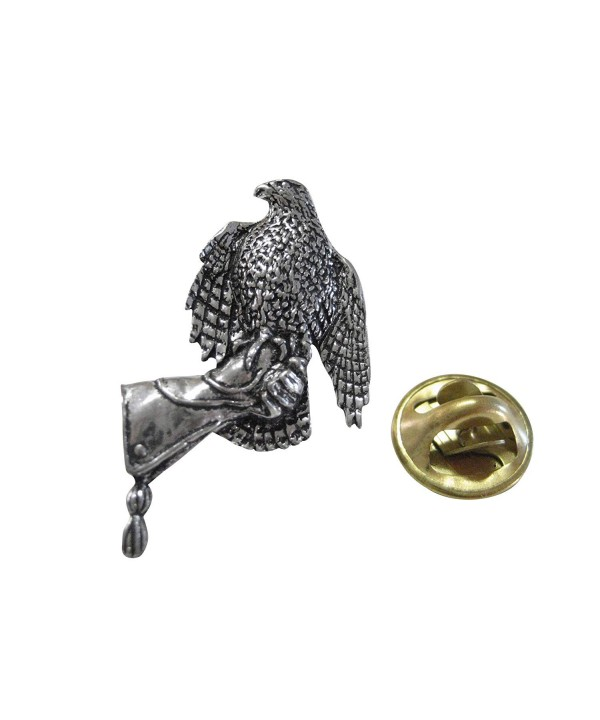 Hawk Bird Glove Lapel Pin