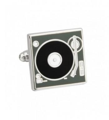 Vinyl Record Player Cufflinks Cuff Links