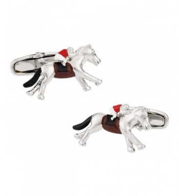 Cuff Daddy Hand Painted Horseracing Cufflinks