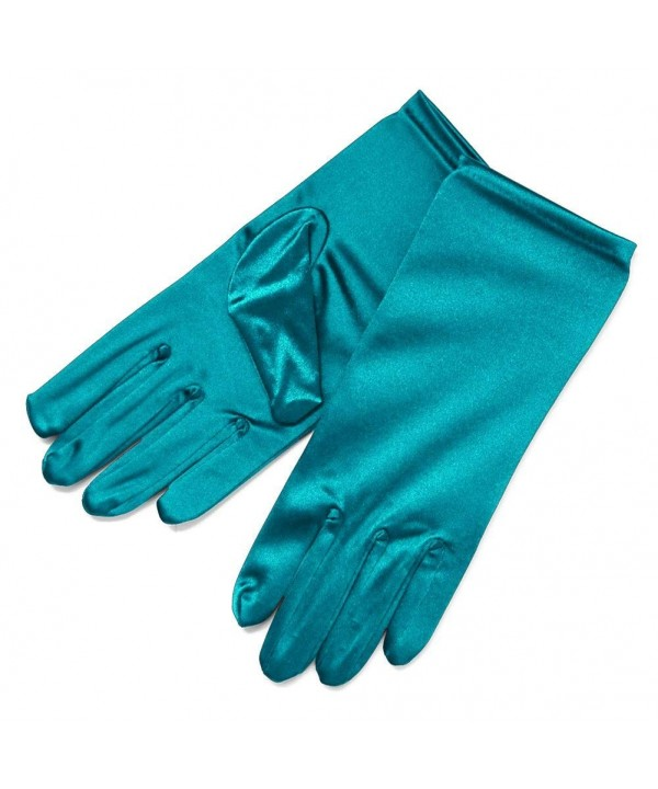 ZaZa Bridal Stretch Gloves 2BL Teal