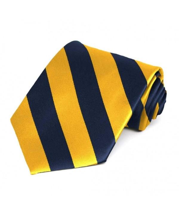 Navy Blue Golden Yellow Striped
