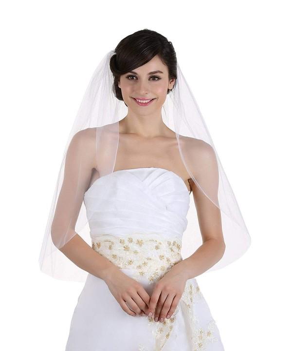 Plain Bridal Wedding Fingertip Length