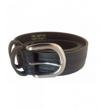 Black Leather PATTERNED LEATHER LOOPS