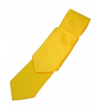 Solid Satin Necktie Pocket Square