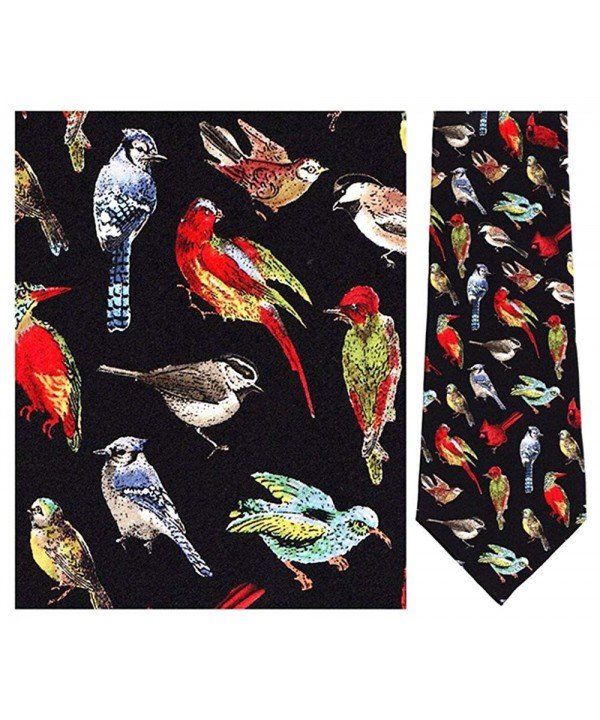 Mens Black Birds World Necktie