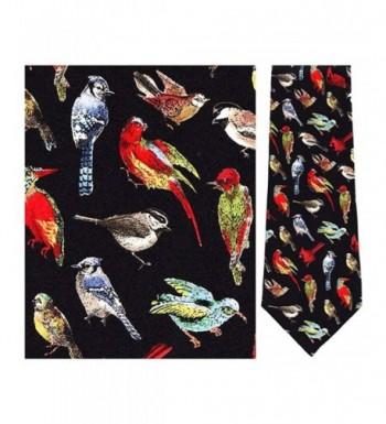 Mens Black Birds World Necktie