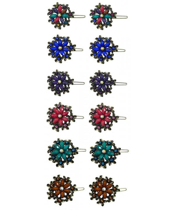 Dozen Crystal Medallion Barrettes LPW86250 1 D